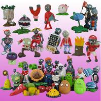 Plants vs Zombies Anime Action Figure 2.5-6.5cm PVZ 40pcs/set Collection Figures Toys Gifts plant + zombies
