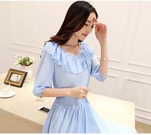 Summer New Arrive Fashion Lady Sweet Dress Chiffon Dress Elegant Temperament Dress Free Shipping(China (Mainland))