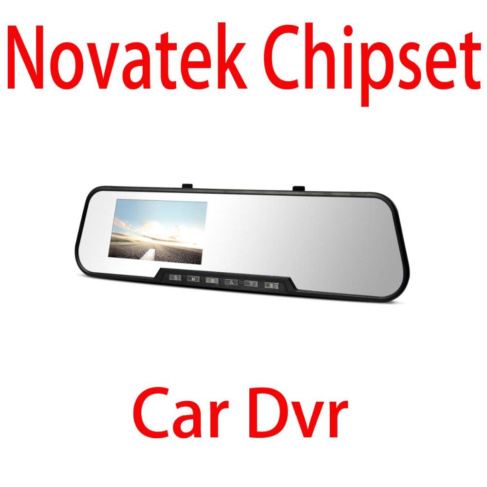 "Wholesales Original DX3300 Novatek 4.3"" Mini Car Camera Rearview Mirror Dash Vehicle DVR Video Recorder+Glass lens 1080P Full HD(China (Mainland))"
