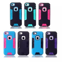 Stocks Strong Protector Case iphone 5 Luxury Silicon Dirt-Resistant Protector Cover iphone 5s Cell Phone Bags