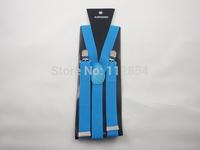 Free Shipping+Skinny Adjust Unisex Pants Y-back Suspender Brace Elastic mens Ladies Clip-on,100pcs/lot