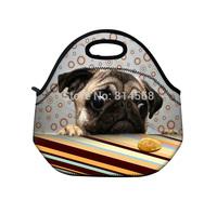 New Cute Pug Thermal Insulated Tote Lunch Bag Cool Bag Cooler Lunch Box Handbag\Lunch Tote Cooler Bag Handbag
