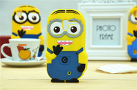 New Cartoon Cute Despicable Me 2 Minions Silicone rubber  case cover For Motorola XT1058 XT1056  cell phone cases.