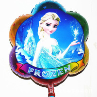 New arrival Balloons Frozen Anna Elsa Olaf Printed Flower Shape Party Supply Princess Snow Queen Cartoon 63x52cm 50pcs/lot