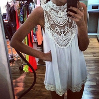 2014 New Arrival Sexy Women Lace Chiffon Party Evening Summer Ladies Short Beach Dress Free Shipping&Wholesale