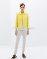 2014 new fashion women fashion elegant  long sleeve Blazer coats Ladies' casual high quality slim brand design coats#J167