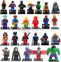 Good quality 24pcs/lot mini figures Big Hulk super hero avengers Building Block Sets toys birthday gift free shipping