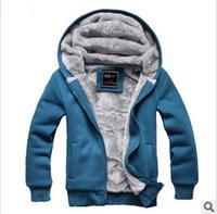Free shipping 2014 new down jacket winter jacket men sweater jacket Ben Lang Lang fleece thick velvet hooded cardigan men