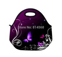 Butterfly Neoprene Travel Picnic Food Insulated Lunch Tote Cooler Bag Handbag\Lunch Tote Cooler Bag Handbag