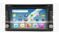 Newest 2 Din Android 4.2 Car video player,build in car radios+GPS Navigator+Bluetooth+DVD player+mp3 player+SD+USB+TV+WiFi.