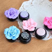 Y181 contact lens case camellia flower box candy box DIY beauty pupil double box