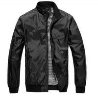 Free Shipping 2014 New cheap black Jacket For Men Autumn Casual Man Jacket Slim Thin Men Coat Outwear M L XL XXL