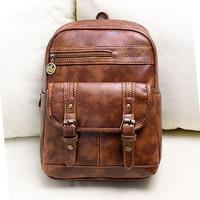 children's backpacks pu brown children school bags for girls boys backpack children bag
