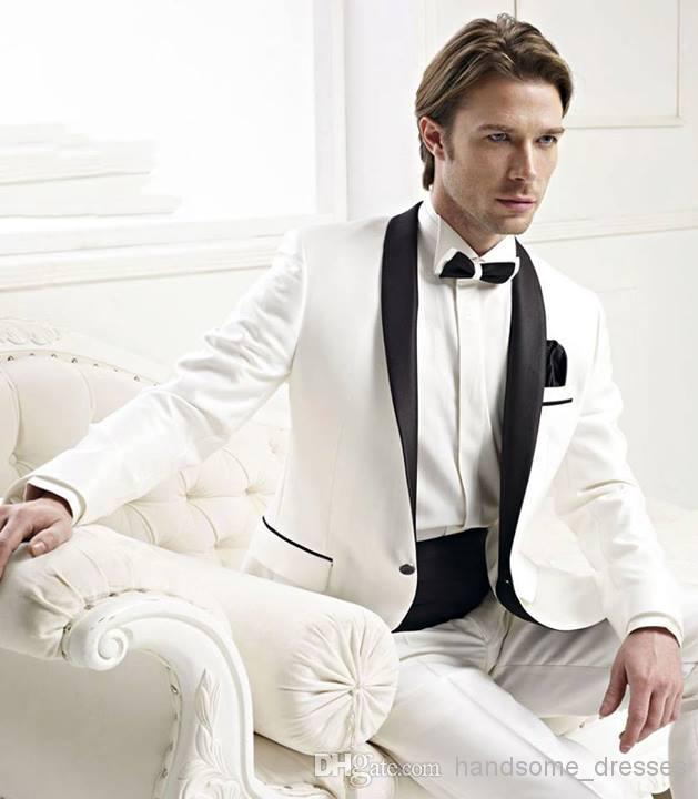 Black Pants White Jacket Tuxedo White Jacket With Black Satin
