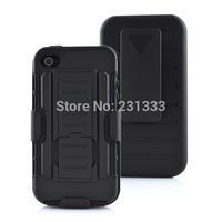 For iphone 5 5g 5s 4 4g 4s Hybrid 3 in 1 Belt Clip Kickstand Slider Impact Anti-Knock stand heavy duty hard ballistic case 1pcs