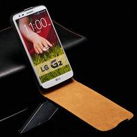 Genuine Leather Flip Case For LG Optimus G2 D802 D801 LS980 F320 Mobile Phone Bag Cover Black White Pink Drop Ship