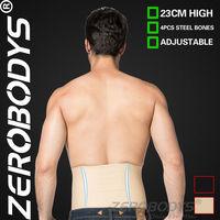Fast Shipping ZEROBODYS Incredible 23cm High 3 Row Hook Eye Closure Waist Cincher 374 BE Mens Slimming Body Men Girdles Spandex