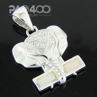 White Fire Opal Silver  Fashion  Jewelry Women & Men Pendant OCP0164B Wholesale & Retail