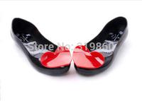 Women's Sandal Slipper Cozy Ballet Flats Low Cutter Flattie Melissa Jelly Waterproof Shoes Peach Heart Wholesale 1400