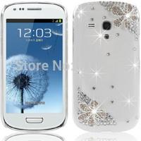 2014 Hot Clear back cover Bling Diamond flower case for Samsung Galaxy S3 mini I8190 S4 mini I9190