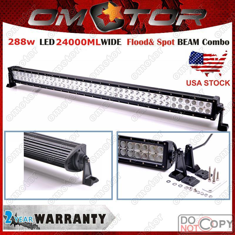 NEW 288W 52Inch LED Work Light Bar Off Road Lights Driving Fog Lamp Flood Spot Combo Beam Truck SUV Boat 4X4 4WD ATV UTE(China (Mainland))