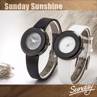 casual leather strap for women dress watches Water Resistant quartz fashion cheap Wrist watch