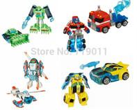 Wholesale Rescue Bots Bumblee Optimus Prime Action Figures Deformation Robot Toys without Original Box
