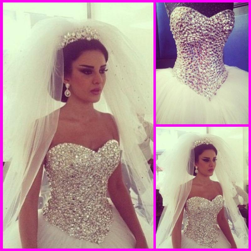 vraie photo corset sexy robes de mariée sweetheart avec cristal perlé tulle blanc dos ouvert robes de mariée sur mesure