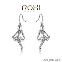 ROXI fashion new arrival, genuine Austrian crystal,dancer earrings, trendy earrings for womenChrismas /Birthday gift