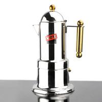 4 cups Moka coffee maker/Espresso VEV coffee pot stainless steel moka coffee machine free shipping