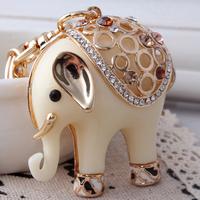 Free shipping !Elegant resin elephant car key chain women's keychains novel design fashion pendant  lovely modelling best gift
