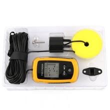 1 pcs 100M Portable Sonar Sensor Fish Finder Fishfinder LCD Alarm Beam Transducer Free shipping(China (Mainland))