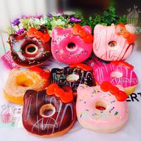 Upgrade quality ! 8 Styles Jumbo hello kitty donut squishy cell phone charm