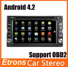 Universal 2 din Android 4.2 Car DVD player GPS+Wifi+Bluetooth+Radio+1.6GB CPU+DDR3+Capacitive Touch Screen+3G+car pc+aduio(China (Mainland))