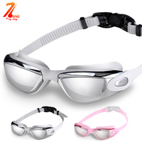 free shipping 2014 waterproof anti-fog unisex swimming glasses
