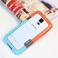 S5 zenus bumper, Zenus Walnutt Color Shock TPU Bumper Frame  for Samsung Galaxy S5 I9600 G900 + 10pcs/lot Free Shipping