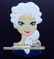 """Frozen Elsa Queen 7"""" Portrait  Embroidered Iron On Patches, Animation Princess Jacket Patch, Kids DIY Cloth Kids Accessories"""