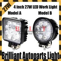 Free Shipping 2PCS 4 inch 27W Led Work Light Flood Spot Beam For 4x4 Offroad ATV Truck Boat UTV Driving Light Saved On 36W/50W