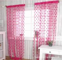 N076 manufacturers supply line curtain line n curtain romantic heart-shaped decorative curtain line curtain Rose