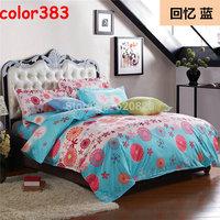 Wholesale Home Textile Blue Fashion Bedding set Sets 4PCS Bed Set Duvet Quilt Cover Bedcover Bedding Bedclothes Home decor