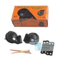 2pcs/lot Universal MINI Black Loud Dual-Tone Snail 12V 65C Electric Horn Free Shipping