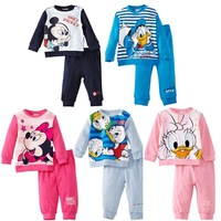 2014 autumn New arrival child clothes kids clothing sets long sleeve cartoon t-shirt +pants Little spring GTJ-T0194