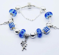 new arrival 2014 vintage angel murano glass beaded bracelet for women charm bracelets & bangles for women on sale PA047