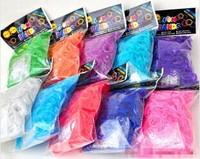 E076 rainbow bands kit DIY hand-woven rubber band girl colorful 7200pcs/lot
