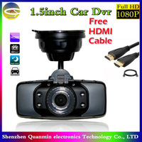 Full HD 1080P Car DVR Cam,GS5000 Car Recorder Camcorder,140 Degree IR Vehicle Camera ,1.5inch H.264 Video Black Box