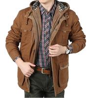 2014 BRAND Down cotton Jacket Winter Jacket Men Coat 90% Cotton Padded Thicken Outwear Hooded Men's Parka Big Size 3XL 4XL 5XL