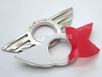 200pcs 6.5cm x 2.5cm MINI CHROME METAL DOOR PIN LOCK CAR EMBLEM BADGE COOPER Emblems Sticker