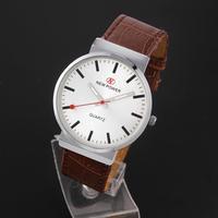 Men Sports Watches Brand Luxury Famous Top men Quartz Watch Round Table Wristwatches Leather Strap PU Montre Homme Male Clock