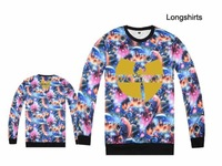 wu tang hip hop t-shirt top selling 2014 new style male's long sleeve t shirt cotton sport tee shirts mens high quality clothing