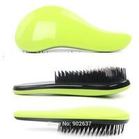 Stock Free Shipping Magic Detangling Handle Tangle Shower Hair Brush Comb Salon Styling Tamer Tool Green/Pink/Blue HB-02